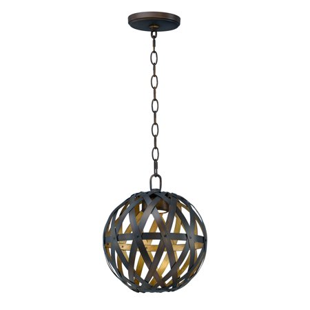 1 Golden Bronze Metal (Pendants 1 Light Bulb Fixture With Bronze Gilt and Gold Finish Metal Material PCB Bulbs 12 inch 11 Watts)
