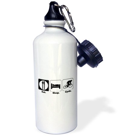Lifestyle Water (3dRose Funny Hobby Lifestyle Design Eat Sleep Cycle, Sports Water Bottle, 21oz )