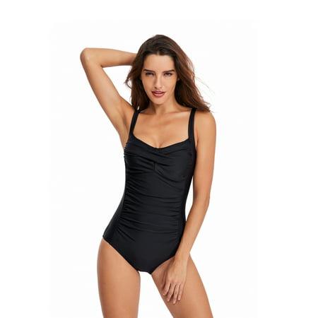 Womens One-Piece Swimming Costumes Monokini Swimwear Swimsuit Bathing Suit Beachwear PUSH-UP Padded Braces Fashion