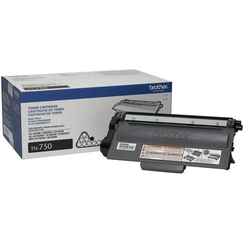 Brother TN750 High Yield Black Toner Cartridge