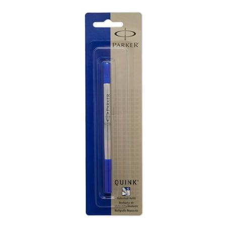 PARKER QUINK Rollerball Pen Ink Refill, Medium, Blue, 1