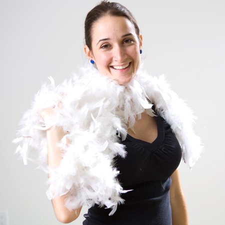 Lime Green Feather Boa (White Feather Boa)