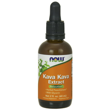 NOW Supplements, Kava Kava Liquid Extract, 2-Ounce ()