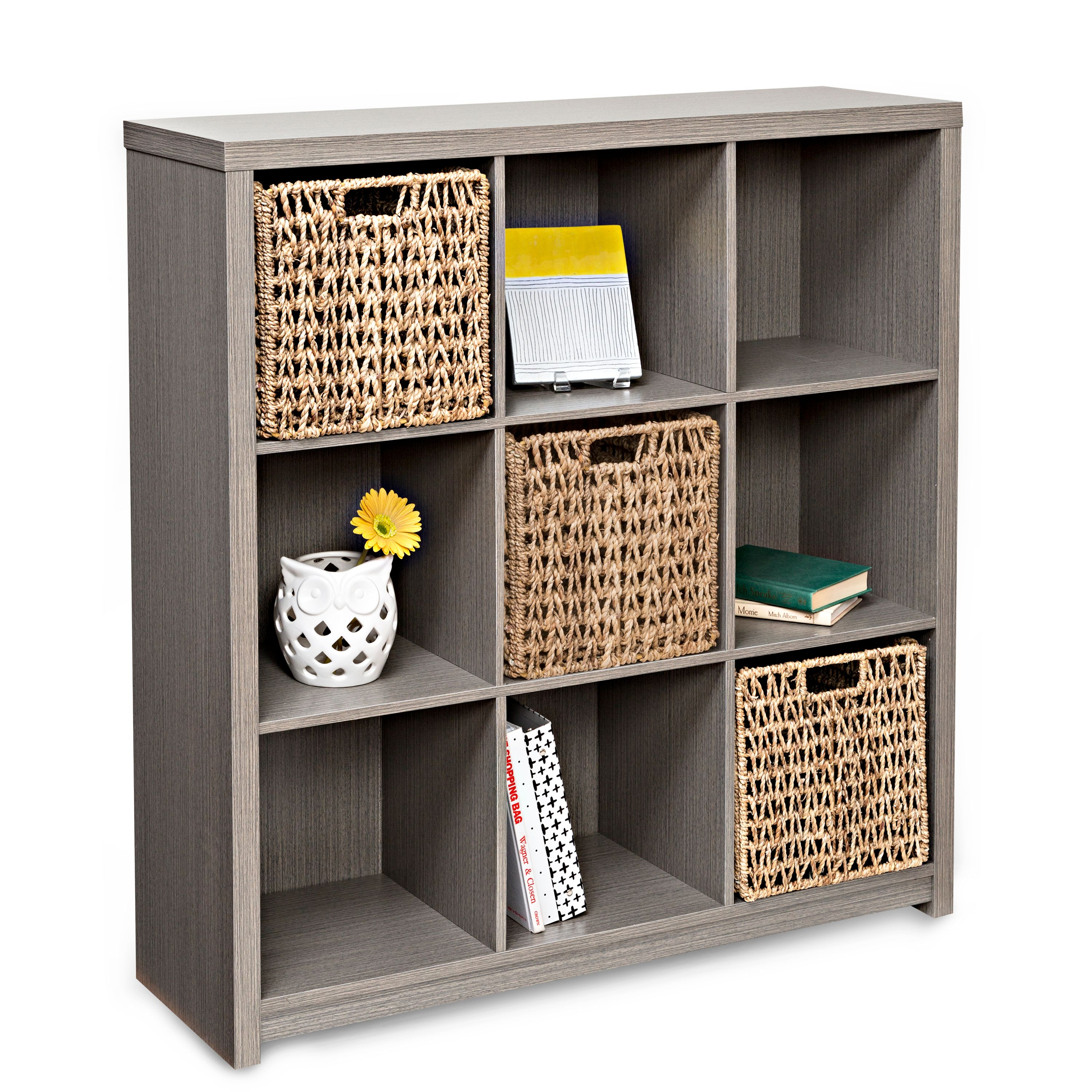 Exceptionnel Honey Can Do Premium Laminate Storage Cube With 9 Cubes, Weathered Teak