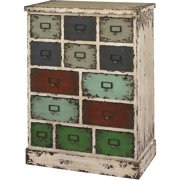 Powell Parcel Collection Cabinet with 13-Drawers, Multi-Color