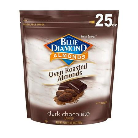 Blue Diamond Almonds, Oven Roasted Cocoa Almonds, Dark Chocolate 25 oz
