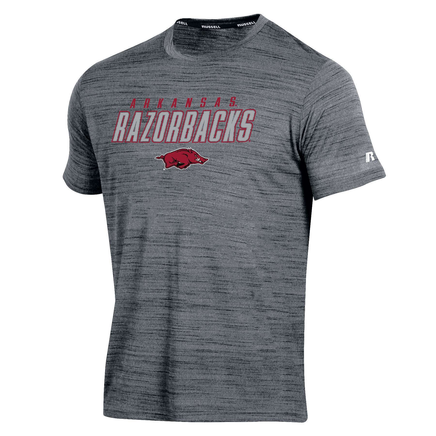 Men's Russell Gray Arkansas Razorbacks Metallic Big & Tall T-Shirt