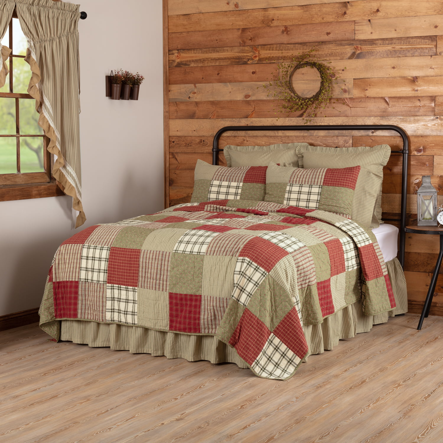 vhc brands brick red farmhouse classic country bedding ...