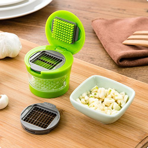 Garlic Mincer Garlic Chopper New Garlic Press Very Sharp Stainless Steel Blades Ginger Garlic Grater Press... by YINGQING TRADE LIMITED