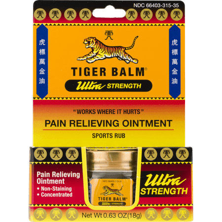 Papaya Body Balm - Tiger Balm Ultra Strength Pain Relieving Ointment Non-Staining 18 gm []