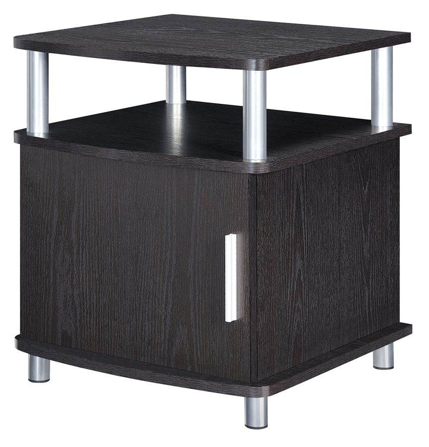 Carson End Table with Storage in Espresso