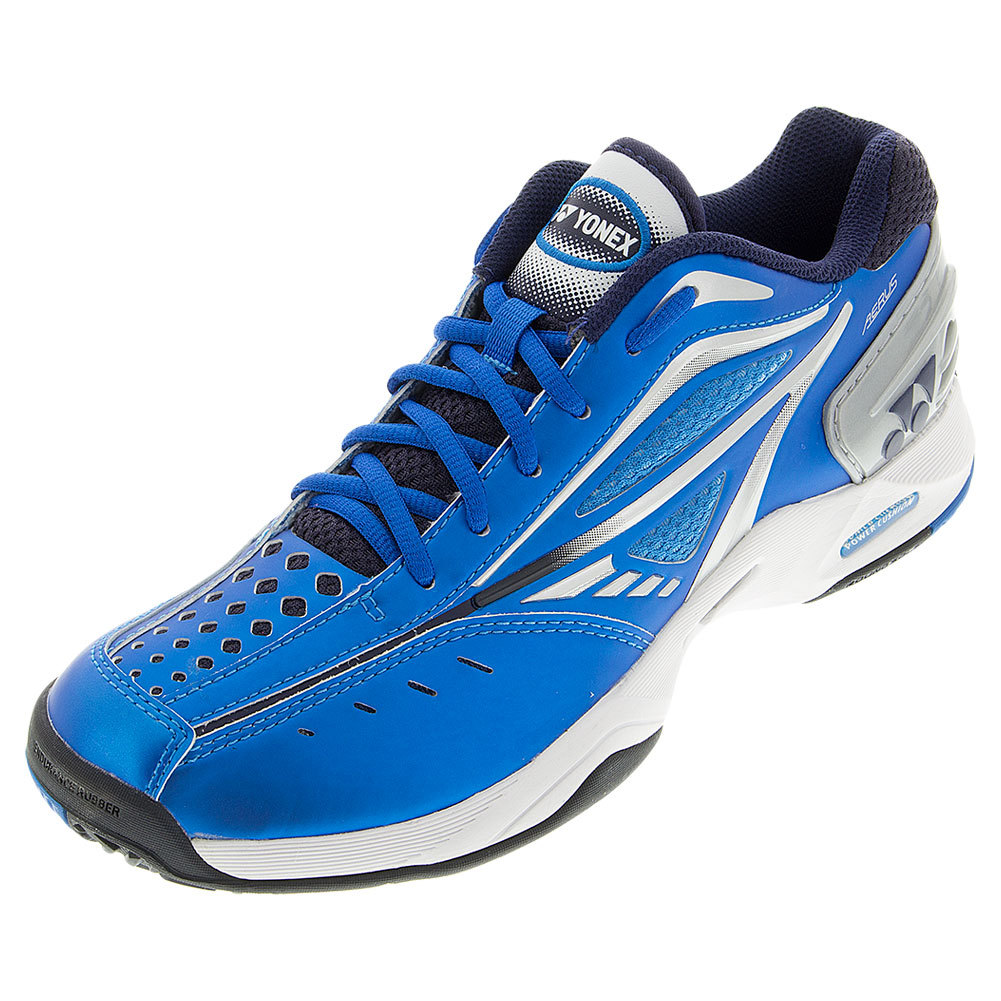 Yonex Men`s Power Cushion Aerus Tennis Shoes Blue