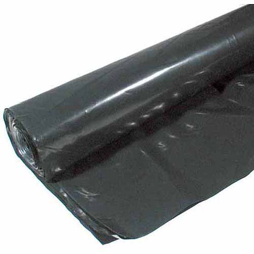 Poly-america 6 mL Tyco Polyethylene Black Plastic Sheeting, 14' x 100'