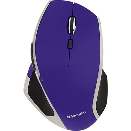 - Verbatim Wireless Desktop 8-Button Deluxe LED Mouse, Purple