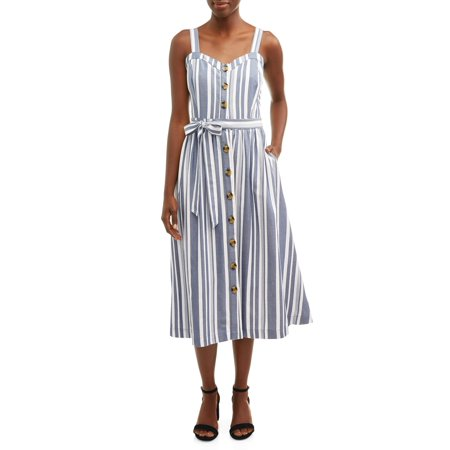 Women's Midi Button Front Dress (Carroll Button Dress)