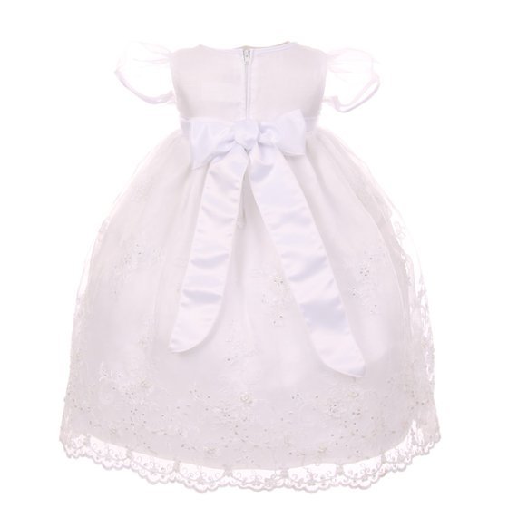 39e8716feb2 Kids Dream - Kids Dream Baby Girls White Organza Pearls Sequins Christening  Dress 3-24M - Walmart.com