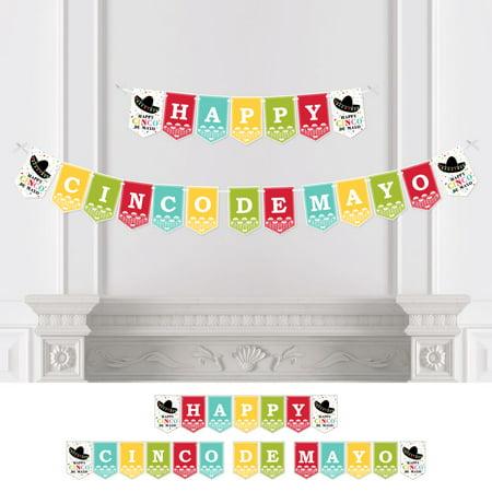 Mexican Cinco De Mayo (Cinco de Mayo - Mexican Fiesta Party Bunting Banner - Serape Party Decorations - Happy Cinco De)