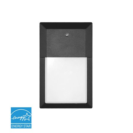 Euri Lighting LED Outdoor Mini Wall Pack with Photocell, 12W, Soft (Lights Of America Led Outdoor Wall Pack Light)
