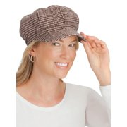 Tweed Women's Newsboy Winter Hat with Adjustable Sizing and Brim