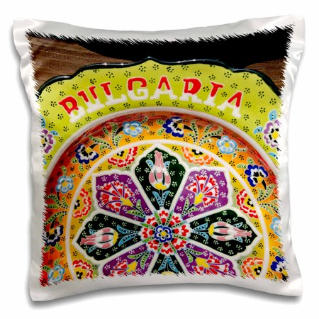 - 3dRose Bulgaria, Nessebur, pottery with pattern - EU05 CMI0280 - Cindy Miller Hopkins - Pillow Case, 16 by 16-inch