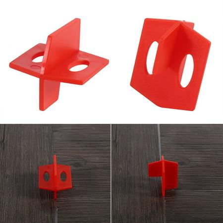 Ymiko 50Pcs 1/16'' Tile Leveling System Red 3 Side Spacer Cross And T Shape Ceramic Floor Wall Tools , Tile Leveler, Tile Leveling