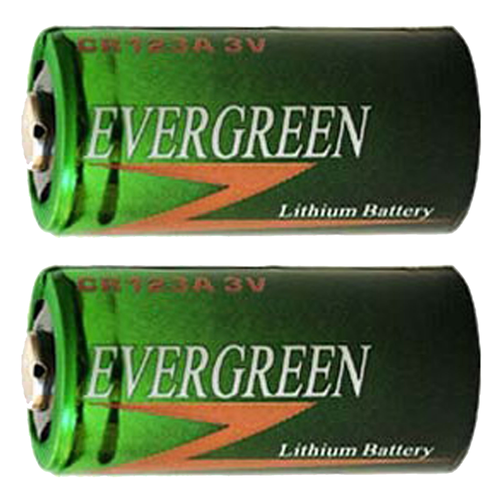 2pcs Evergreen CR123 2/3A 3V Lithium Batteries CR17335 CR17345 DL123 DL123A