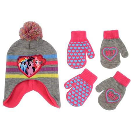 3d1a2f95cfdba Hasbro - Hasbro My Little Pony Hat and 2 Pair Gloves or Mittens Cold  Weather Set