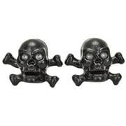 Trick Top Valve Caps Skull/Bone Black