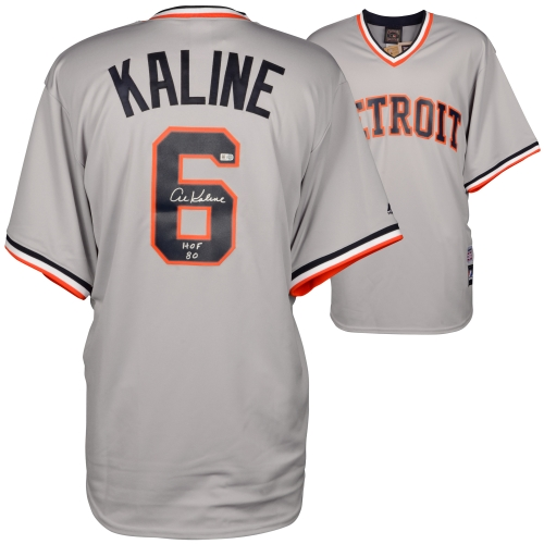 Al Kaline Detroit Tigers Fanatics Authentic Autographed Majestic Replica Jersey with HOF 1980 Inscription - No Size