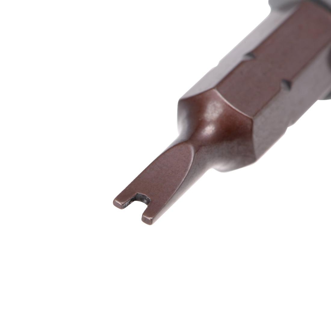 4Pcs 1/4-Inch Hex Shank 25mm Length U2 U Shape Screwdriver Drill Bits - image 3 of 4