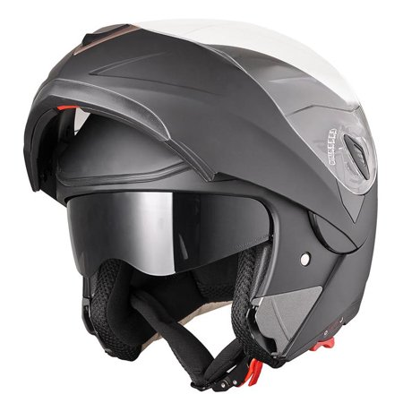 c785fa25 AHR Motorcycle Helmet Modular Flip up Full Face Dual Visor DOT Approved  Motocross Color/Size Opt - Walmart.com