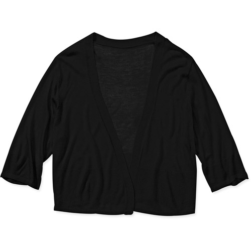 Women's Plus-Size Cropped Lightweight Sweater Cardigan