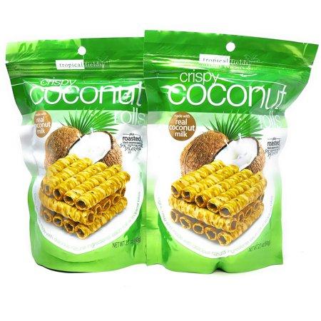 Tropical Fields Crispy Coconut Rolls ( Pack Of 2 )