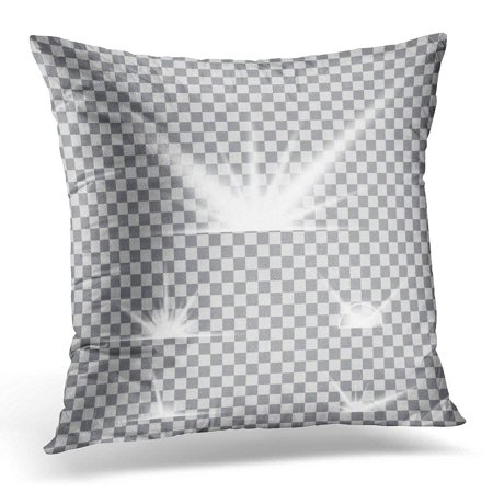 ARHOME Creative of Glow Light Effect Stars Bursts with Sparkles Black for For Christmas Celebrate Magic Flash Pillow Cover 20x20 Inches Throw Pillow Case Cushion Cover - Items That Glow Under Black Light