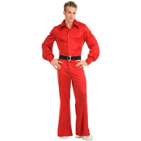 Studio 54 Disco Jumpsuit Adult Costume Red - Large for $<!---->
