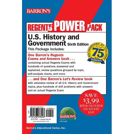 Regents U.S. History and Government Power Pack : Let's Review U.S. History and Government +  Regents Exams and Answers: U.S. History and