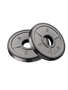 Marcy Ecoweight Olympic Grip Plates, Sold in Pairs, 5 lbs