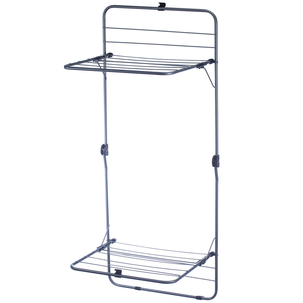2 Tier Over The Door Laundry Clothes Drying Rack Steel Opens To