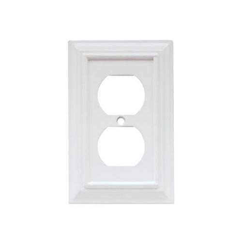duplex wall plate 1gang wood white mdf material