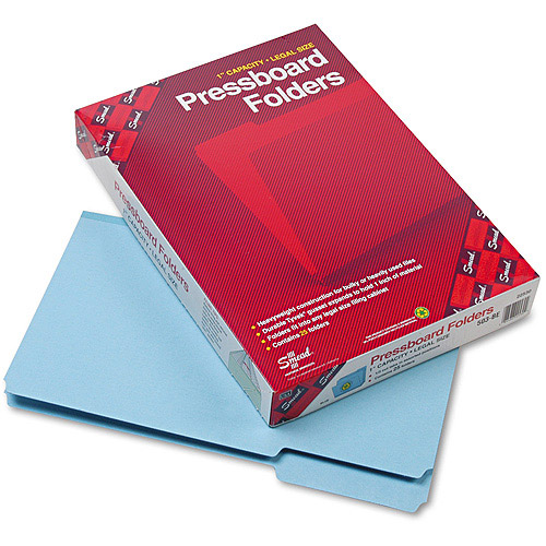 Smead Recycled Pressboard Folder, 1/3 Cut, Top Tab, 25/Box