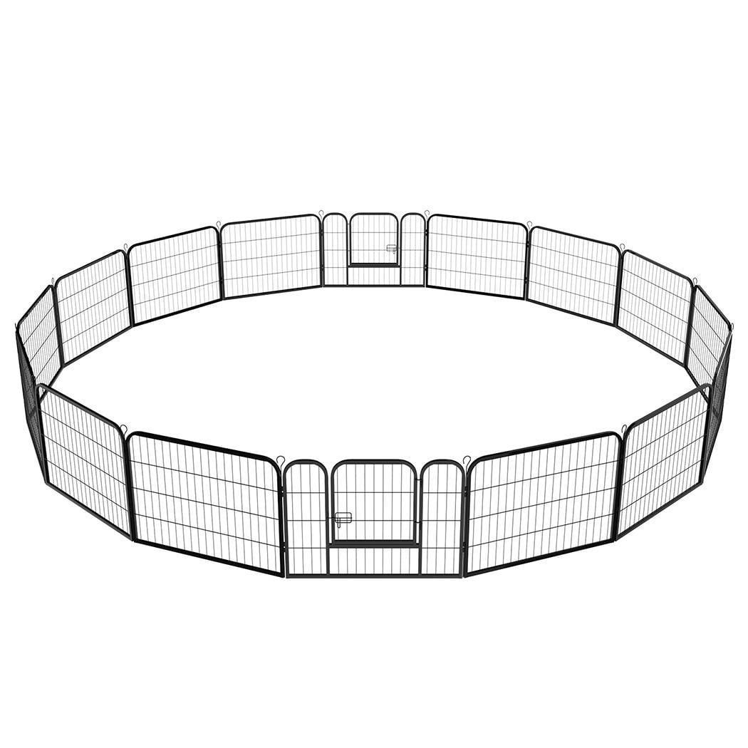 Pet Dog Cat Exercise Barrier Fence Panels Cage Playpen Ke...
