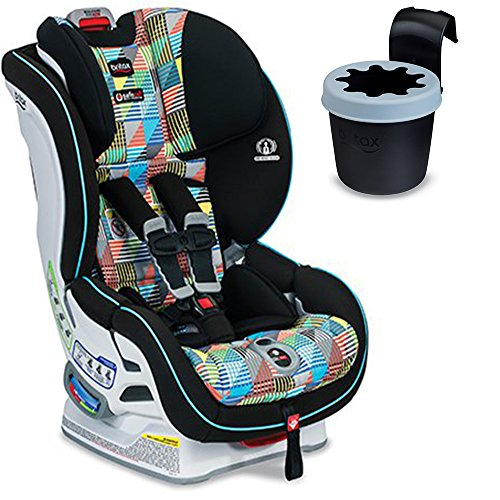 Britax Boulevard ClickTight Convertible Car Seat (Vector) With Black Cup Holder Bundle