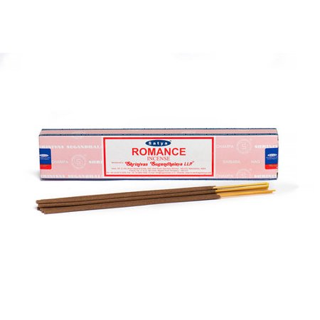 Romance Stick Incense, 15 Gram (12 to 15 Stick) Box, Satya Nag Champa Variety, Masala Incense Imported From India