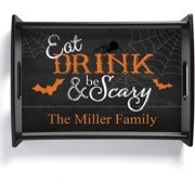 Personalized Eat, Drink and Be Scary Serving Tray