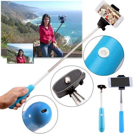 elecmall extendable selfie pole telescopic mono pod handheld stick. Black Bedroom Furniture Sets. Home Design Ideas