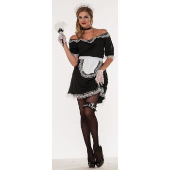 CO - FRENCH MAID - STD - VALUE - French Maid Costume Spirit Halloween