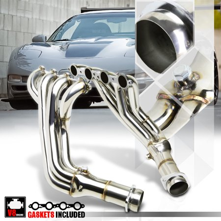 SS Long Tube Exhaust Header Manifold for 97-04 Chevy Corvette 5.7 V8 C5 LS1/LS6 98 99 00 01 02 03 02 03 04 Chevy Corvette