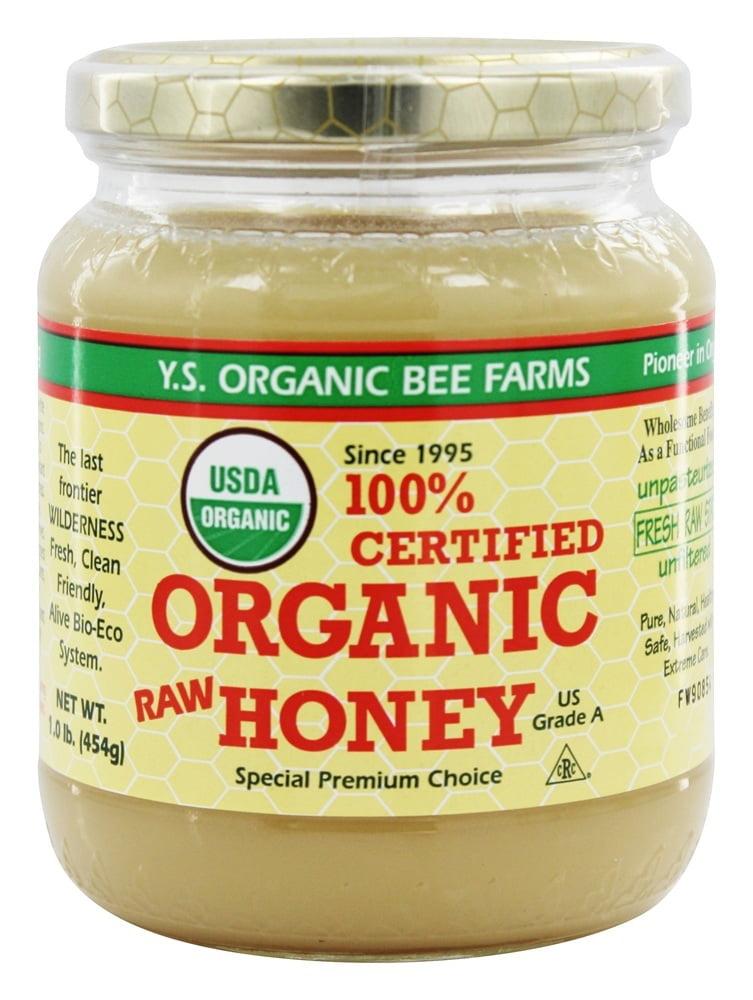 YS Organic Bee Farms Certified Organic Honey 100% 16 oz. by YS Organic Bee Farms