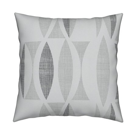 - Mid Century Modern Geometric Throw Pillow Cover w Optional Insert by Roostery