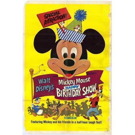 Mickey Mouse Happy Birthday Show POSTER Movie Mini Promo (Mini Mouse Birthday)